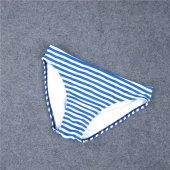 Angelsin Mavi Cizgili Şık Bikini Takım-3