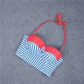 Angelsin Mavi Cizgili Şık Bikini Takım-5