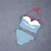 Angelsin Mavi Cizgili Şık Bikini Takım-6