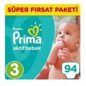Prima Pampers Aktif Bebek 3 Numara 94 Ad. 5-9 kg