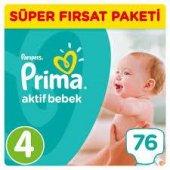 Prima Pampers Aktif Bebek 4 Numara 76 Ad. 8-14 kg