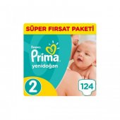 Prima Pampers Aktif Bebek 2 Numara 124 Ad. 3-6 kg-2