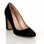 Poletto Siyah Süet Topuklu Ayakkabı
