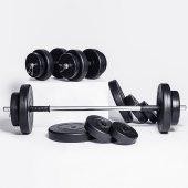 85 kg HDambıl Seti Ağırlık Seti Ağırlık Plakaları Fitness S-2