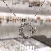 Ayyıldız Ay Yıldız 925 Gümüş Kolye İdeal Boy...