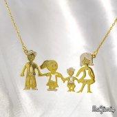 Anne Baba Çocuk (Kız Erkek) Altın Kaplama Gümüş...