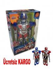 Oyuncak Pilli Işıklı Yürüyen Büyük Robot Süper...