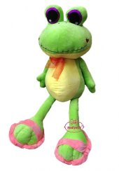 Oyuncak Peluş Kurbağa Terlik Patili Sevimli...