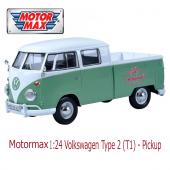Motormax 1:24 Volkswagen Type 2 T1 Pickup-2