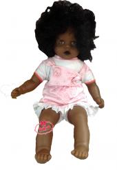 Oyuncak Zenci Et Bebek 65 Cm Siyah Bebek Saçlı