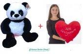 Peluş Sesli Panda + Seni Seviyorum Kalp