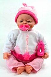 Vardem Kutulu Pilli Sesli Gerçek Mimikli Pıtırcık Bebek Beyaz Elbiseli Oyuncak Bebek