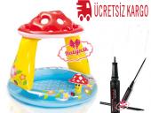 Intex Mantar Gölgelikli Bebe Havuzu El Pompası...