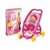 Oyuncak Candy Kalpli Puset Bebek Arabası