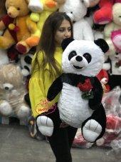 Oyuncak Peluş Panda 60 Cm Gül Tutan Romantik Panda...