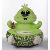 çocuk Koltuğu Oyuncak Koltuk Kaplumbağa Kurbağa Kumaş Dolgulu Puf Koltuk