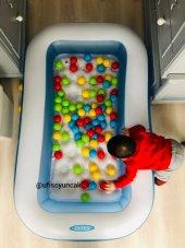 Intex 57403 Yumuşak Taban Çocuk Havuzu+100 Adet Oyun Topu+pompa Hediye 1+ Yaş Şişme Havuz Top Havuzu