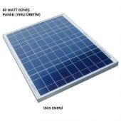 80 Watt Polikristal Güneş (Solar) Panel