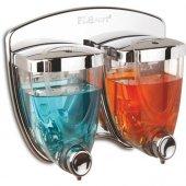 Flora Soft Sıvı Sabunluk İkiz 350 Ml +350 Ml Krom Sıvı Sabunluk