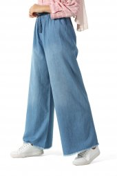 Mavi Beli Lastikli Kot Pantolon 252-1000