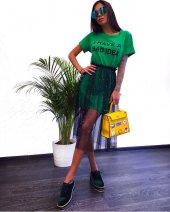 Kadın İncili Yeşil Tasarım Tunik