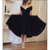 Kadın Prenses Siyah Abiye Elbise