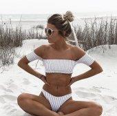 şık Straplez Bikini Takım