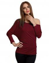 Japon Style Kadın Bordo Sandy Bluz