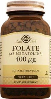 Solgar Folate (Metafolin) 400 mg 50 Tablet