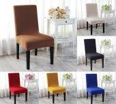 Agila Lüks Esnek Sandalye Kılıfı 6 Adet - Likralı Her Sandalyeye Uygun