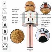 WS-858 Karaoke Bluetooth Mikrofon ve Taşınabilir Hoparlör-4