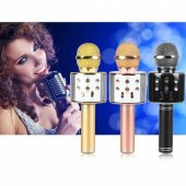 WS-858 Karaoke Bluetooth Mikrofon ve Taşınabilir Hoparlör-5