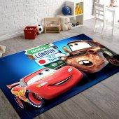 çocuk Halısı Modelleri Şimşek Arabalı Halı Kaymaz İ B684