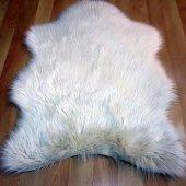 Kuzu Post Halı Krem Renk Orjinal Kesim Yıkanabilir Doğuş Peluş
