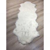 Kuzu Post Halı İki Kafa Orjinal Kesim Doğuş Peluş Beyaz