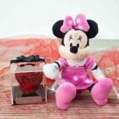 Sevgili Kombinleri İsme Özel Solmayan Gül Minnie Mouse Peluş