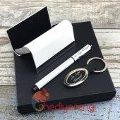 Kişiye Özel Beyaz Kartvizitlik Anahtarlık ve Roller Kalem Seti-2