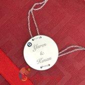 İsme Özel 925 Ayar Gümüş Nazar Boncuklu Plaka Bileklik-3