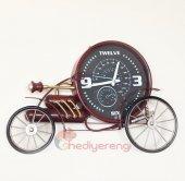 Nostaljik Metal Araba Tasarımlı Büyük Boy Duvar Saati Model 3