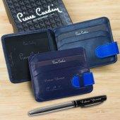 Pierre Cardin İsme Özel Kartlık Cüzdan Lacivert-Sax-2