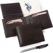 U.s. Polo Assn. İsme Özel Deri Cüzdan Klasik Kahverengi Plcuz0042
