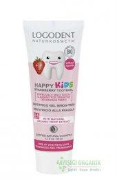 Logodent Çocuklar İçin Florürsüz Çilek Özlü Diş Macunu