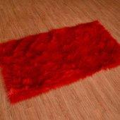 Kuzu Post Halı Patchwork El İşçiliği Kırmızı Renk M