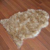 Post Halı Yıkanır Kuzu Post Orjinal Kesim Süvet Taban Camel M