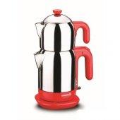 Korkmaz Demtez Kırmızı Elektrikli Çaydanlık A 369 01 4 Yıl Garantili
