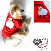 Sheep By Kemique Köpek Gömleği Kırmızı