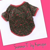 Pembe Leopar Oval Yaka Tişört Summer T By Kemique Köpek Kıyafeti Köpek Elbisesi