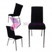 Lastikli Sandalye Kılıfı Siyah Mutfak Tip M2 (Renk 1)