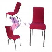 Lastikli Sandalye Kılıfı Şeker Pembesi Mutfak Tip M2 (Renk 14)