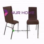 Lastikli Sandalye Kılıfı Kahve Rengi Mutfak Tipi M2 (Renk 16)